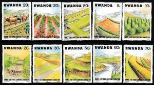 Rwanda MNH 1140-9 Soil Erosion Prevention 1983