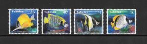 FISH - TOKELAU #208-11  MNH
