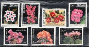 Sc #1316-21 - Monaco - c.1982 - Exotic Flowers  - MNH VF - superfleas - cv$20