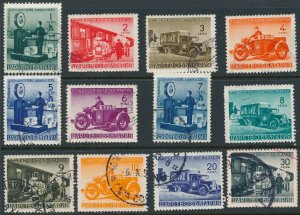 Stamp Bulgaria 1941 WWII Parcel Post Train Motorcycle Truck Selection U