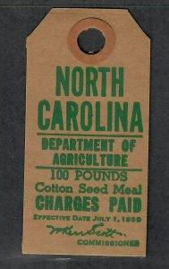 North Carolina State Revenue Stamp Sc#CST31a, Cv. $20