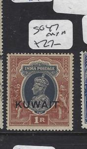KUWAIT (PP2102B)  ON INDIA KGVI  1R  SG 47  MNH
