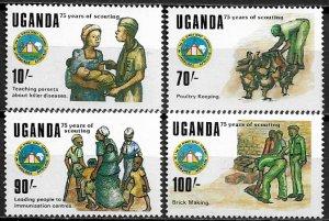 Uganda #685-8 MNH Set - Scouting Year