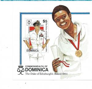 Dominica #900 $5  Souvenir Sheet (MNH)  CV $3.75