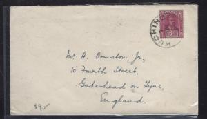 SARAWAK POSTAL HISTORY  (P1509B) COVER  1930  3C KUCHING TO ENGLAND