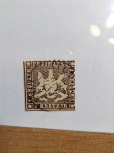 Germany  (Wurttemburg) SC #39a   Used