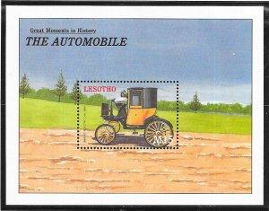 Lesotho #1253  15M  The Automobile  S/S (MNH) CV $6.50