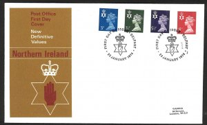 Great Britain Northern Ireland New Definitive Values (1974) FDC