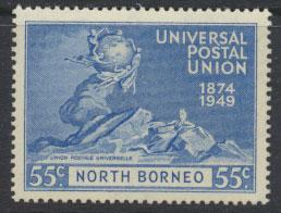 North Borneo  SG 355 SC# 243 MNH  UPU 1949