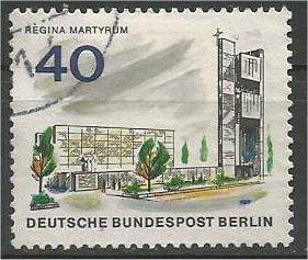 BERLIN, 1966, used 40pf Regina Martyrum Scott 9N227