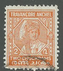 India-Travancore  Scott 38  Used