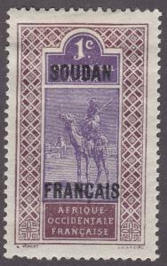 French Sudan 21 Camel and Rider 1921