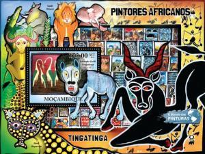 MOZAMBIQUE 2011 SHEET MNH TINGATINGA AFRICAN ART PAINTINGS