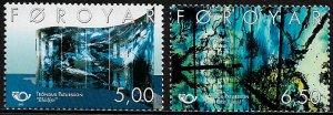 Faroe Is #416-7 MNH Set - Art