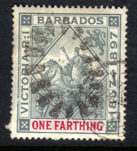 Barbados 1897 - 98 QV 1/4d Seal Of Colony used SG 116 ( L866 )