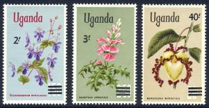 HALF-CAT BRITISH SALE: UGANDA #130-32 Mint NH