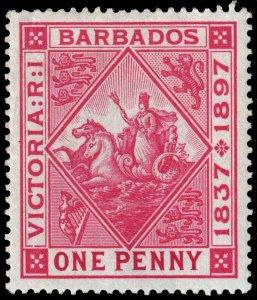 Barbados - Scott 83 - Mint-Hinged - Crease - Thin