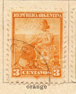 Argentina 1900 Early Issue Fine Used 3c. NW-11765