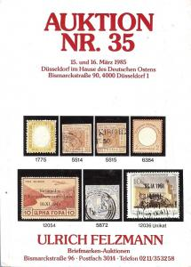 Felzmann: Sale # 35  -  Auktion NR.35, Ulrich Felzmann Sa...