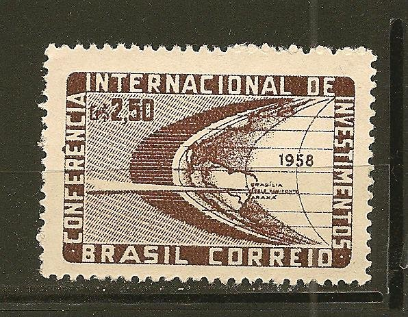 Brazil 873 Stylized Globe Mint No Gum