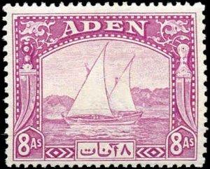 Aden #1-8, Incomplete Short Set(8), 1937, Hinged
