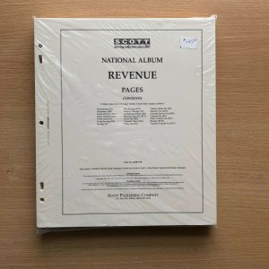 NEW Scott Revenue National Stamp Album Pages. NEW in package, Never Opened!