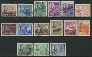 North Borneo KGVI 1950 complete set used