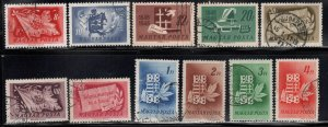 Hungary Scott 829-839  used set