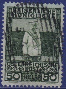 Austria - 1908 - Scott #121 - used - TELVE pmk Italy