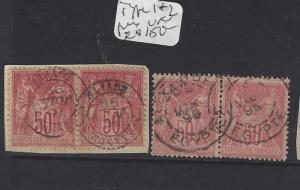 EGYPT FRENCH OFFICES IN ALEXANDRIA(PP0609B)FRANCE 50C SON CDS  2 PRS  VFU
