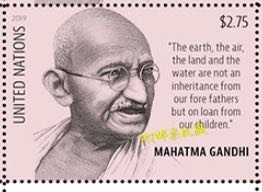 United Nations 2019 UN 150th Birth Mahatma Gandhi Indian People Politician Stamp