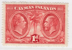British Colony Cayman Islands 1932 1d MH* Stamp A22P19F8936