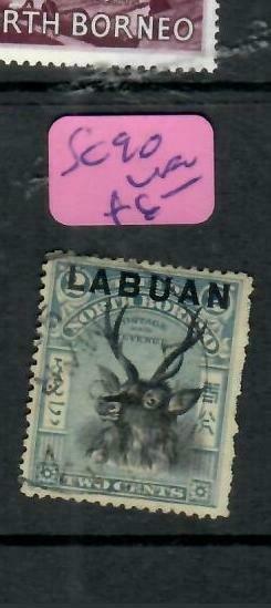 LABUAN  (P2204B)   2C DEER  SG 90    VFU