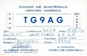 8690 Amateur Radio QSL Card  CIUDAD DE GUATEMALA CENTRO AMERICA