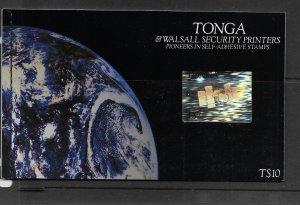 TONGA, 870, MNH, BOOKLET OF SELF ADHESIVE STAMPS