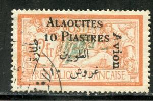 Alaouites # C4, Used. Cat value 15.00.