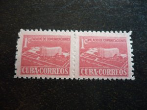 Stamps - Cuba - Scott#RA43 - Mint Hinged Pair of Stamps