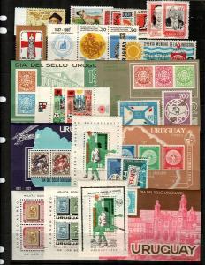 Uruguay Mint NH sets and S/S (Catalog Value $35.05) [TC770]