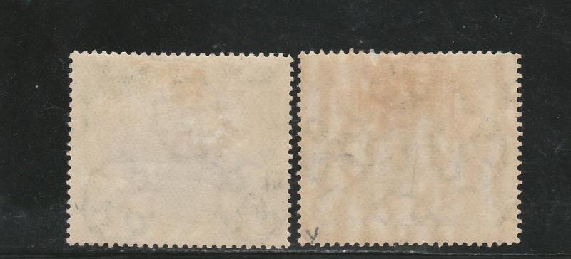 PAPUA 1901 LAKATOI BRITISH NEW GUINEA 1/2D AND 2D  VERTICAL WMK