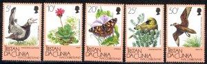 Tristan Da Cunha Sc# 399-403 MNH 1986 Flora & Fauna