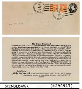 UNITED STATES USA - 1918 6c CURTISS JENNY - envelope FDI - FACSIMILE FAKE COPY