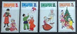 SINGAPORE 1971 FESTIVALS SG155-158 UNMOUNTED  MINT.CAT £7.75