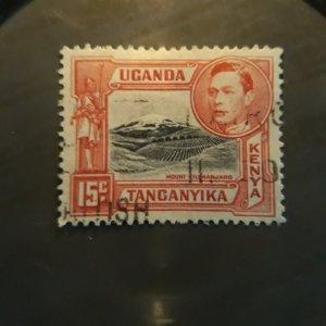 Kenya-Uganda 72  1943   used  VF
