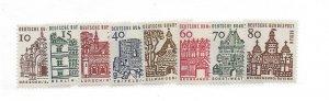 Germany (Berlin), 9N215-222, German Buildings Singles, MNH