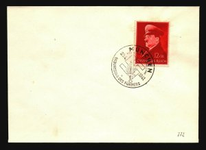 Germany SC# B190 on Hitler B-Day Event Cover - Z17154