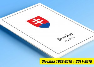 COLOR PRINTED SLOVAKIA 1939-2010 + 2011-2018 STAMP ALBUM PAGES (127 ill. pages)
