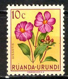 Ruanda Urundi 1953; Sc. # 114; **/MNH Single Stamp