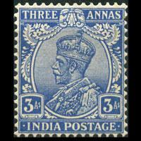 INDIA 1930 - Scott# 114 King Blue 3a LH