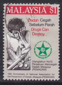 Malaysia -1986 Prevention of Drug Addiction $1 - used