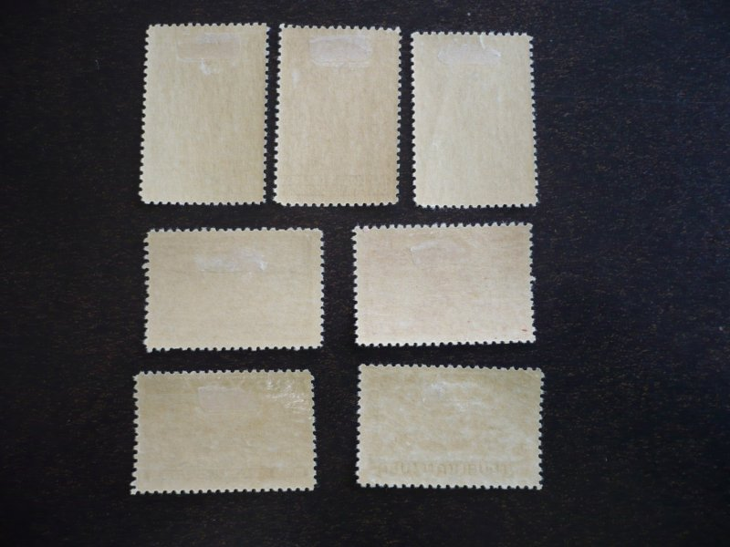 Stamps - Cuba - Scott# 387-391,C36-C37 - Mint Hinged Set of 7 Stamps